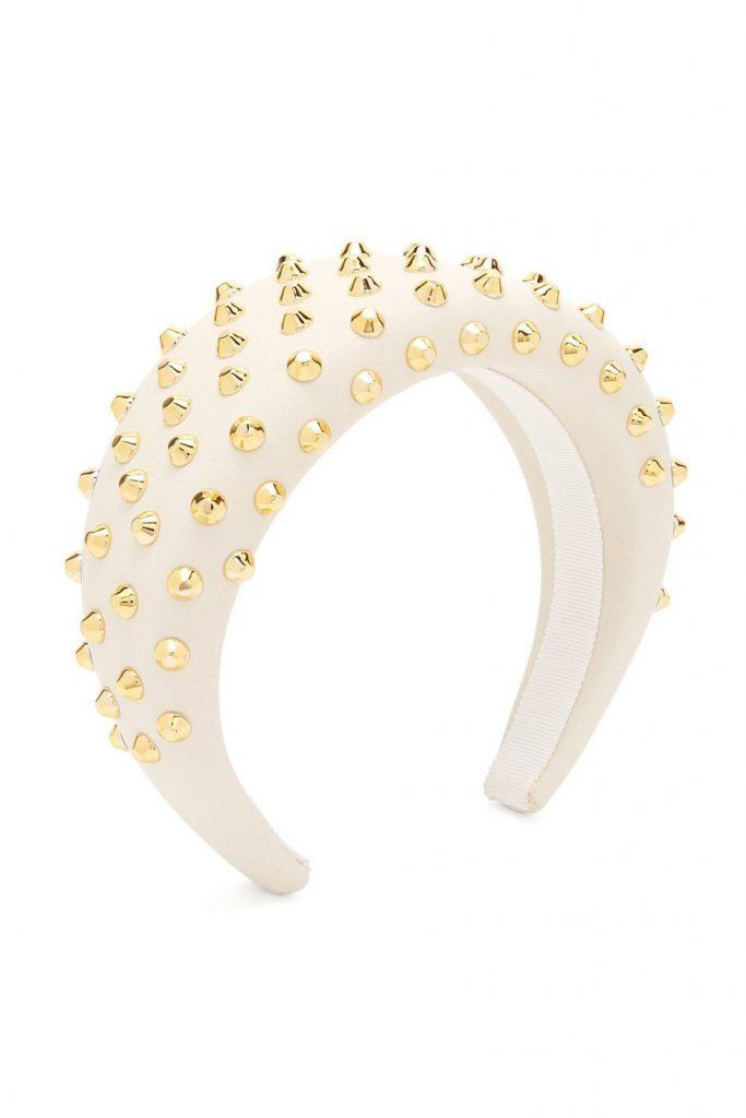 Prada stud-embellished headband